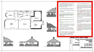 Building Plans for House Extension with Construction Specification
