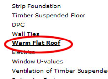 Building Regulations Editing Specification, Warm Flat Roof